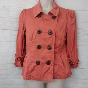 American Rag Coral Orange Double Breasted Blazer